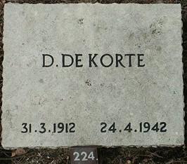Foto van grafsteen van Dirk de Korte
