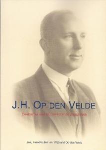 Portret Jan op den Velde op voorkant van een boek over hem